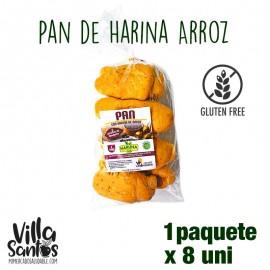 Pan de Harina de Arroz Paq. 8 uni El Panal