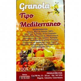 Detalle Etiqueta Granola Tipo Mediterráneo 300 gr Especialidades Alemanas