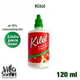 Kilol Desinfectante Verduras 120 ml Orgánico al 10 % de concentración.