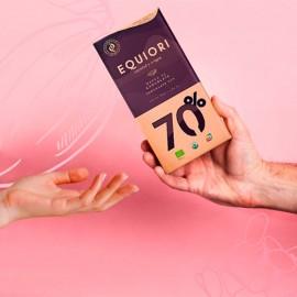 Barra de Chocolatina al 70% 83 gr Equiori orgánica