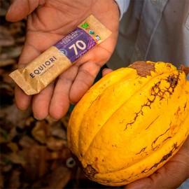 Chocolatina al 70% 11 gr Equiori orgánica