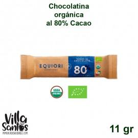 Barra de Chocolatina orgánica al 80% de 11 gr marca Equiori