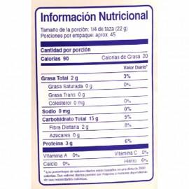 Avena en Hojuelas sin Gluten 1,000 gr Why Not - tabala nutricional