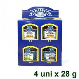Mermeladas Mini 4 uni sin azúcar 28 gr St. Dalfour