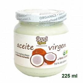 Aceite de Coco Orgánico 225 ml Dans le Food