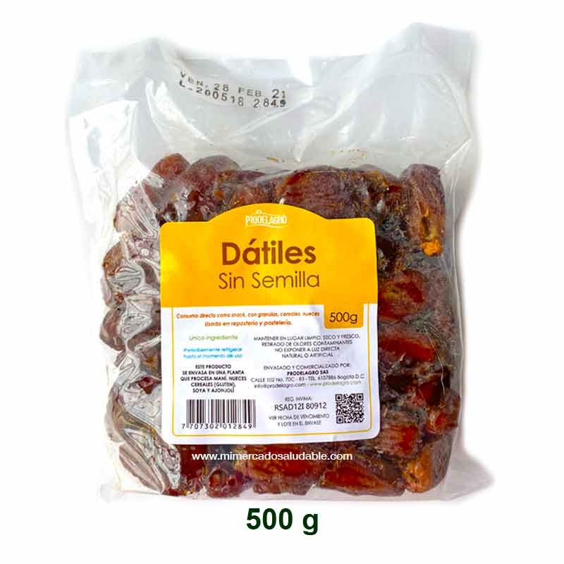 Dátiles sin semilla 500 gr Prodelagro