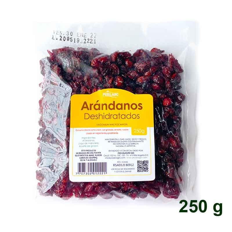 Arándanos Cranberries 250 gr PRODELAGRO Deshidratados